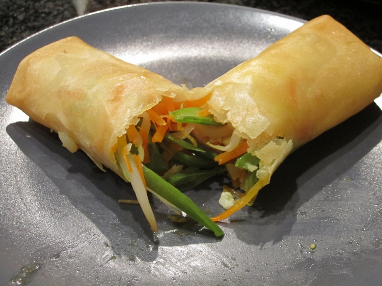 A fresh vegetarian spring roll