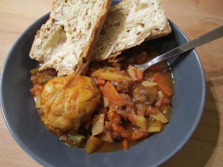 Vegetable Stew & Dumplings