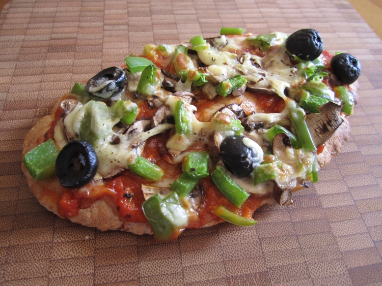 Pitta bread pizza