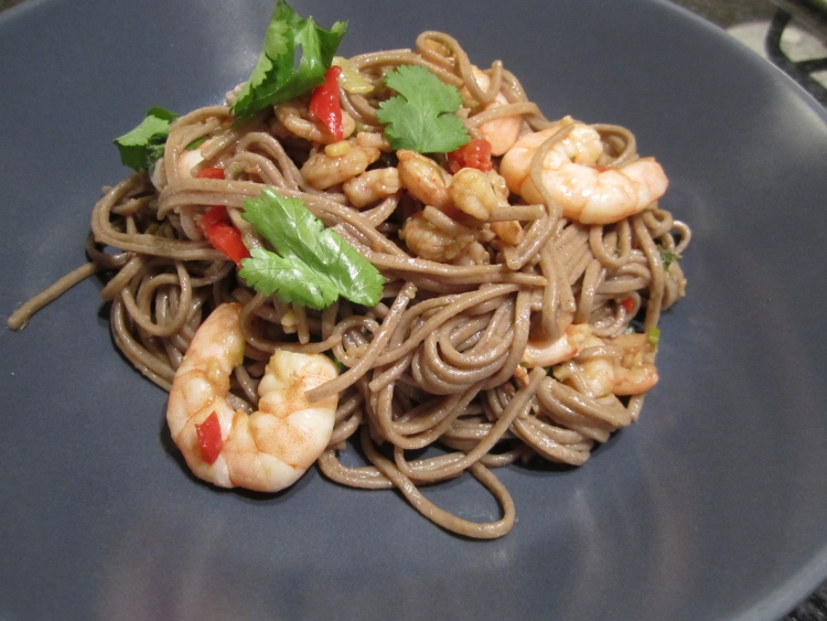 Wagamama's Chilli Prawns with Soba Noodles