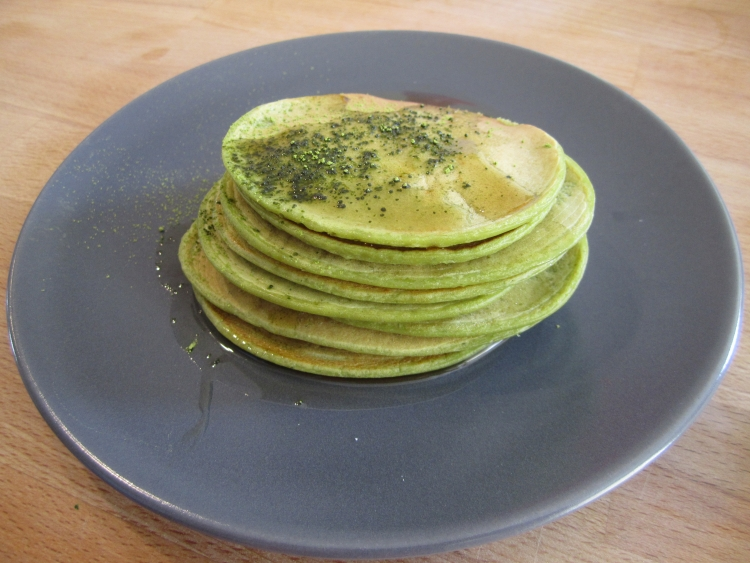 Matcha green tea pancakes