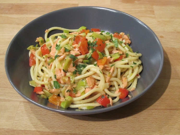 Gino D'acampo's smoked salmon and red pepper pasta
